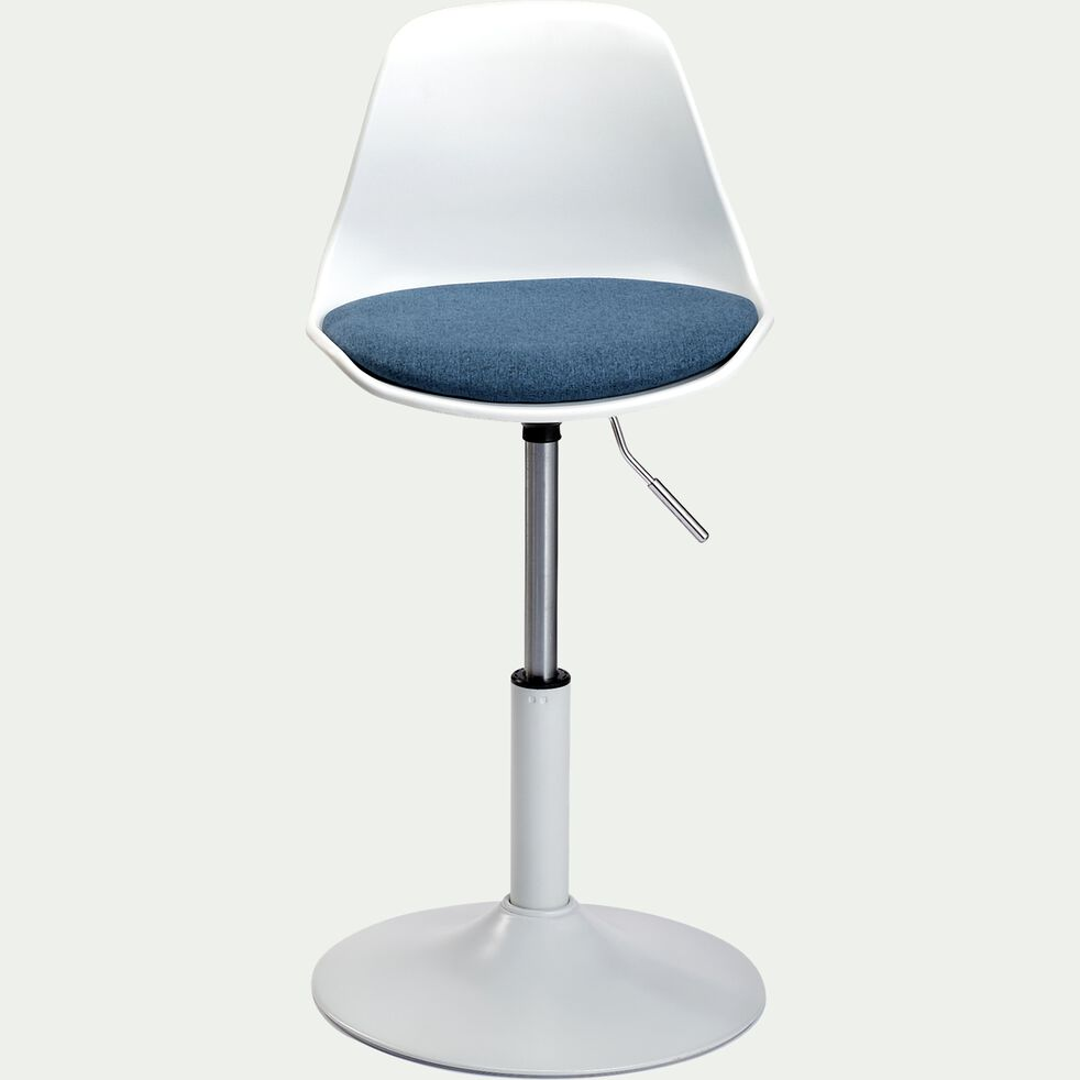Chaise dactylo en plastique pour enfant - bleu-Roly