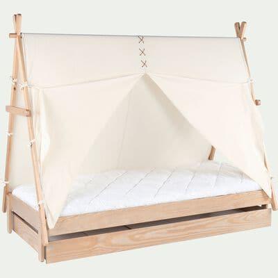 Tiroir de lit en bois - naturel-APACHE