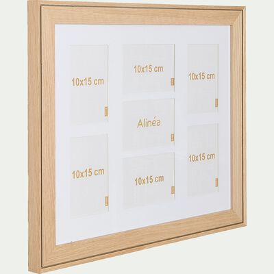 Cadre photo multivues en bois de hêtre - naturel 40x50cm-DELPHINE