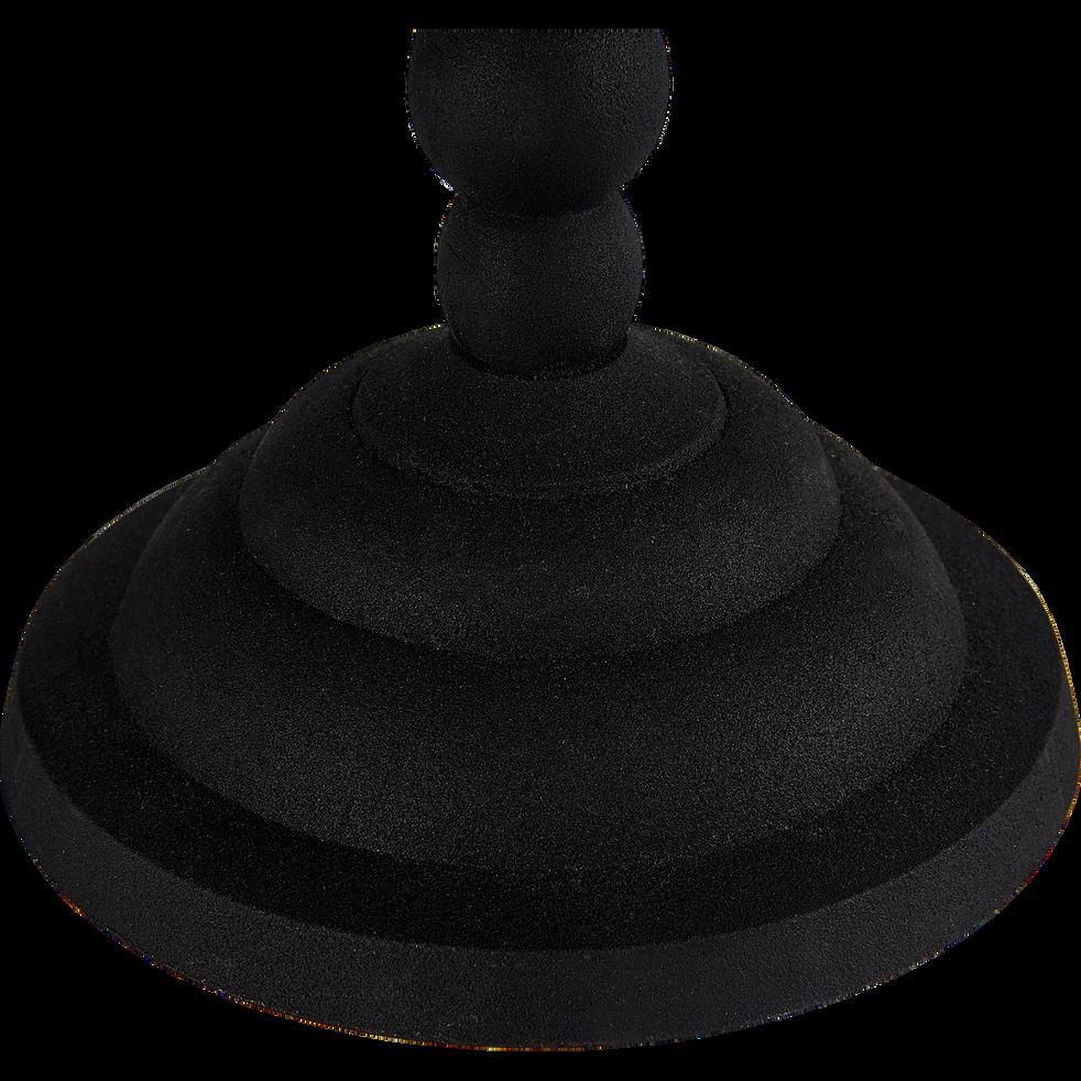 Bougeoir en métal noir H34cm-Noiro