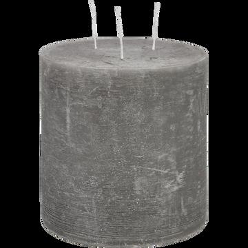 Bougie lanterne coloris gris restanque D15xH15cm-BEJAIA