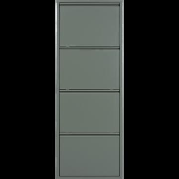 Meubles à chaussures en métal Vert cèdre - 8 paires-Lofter