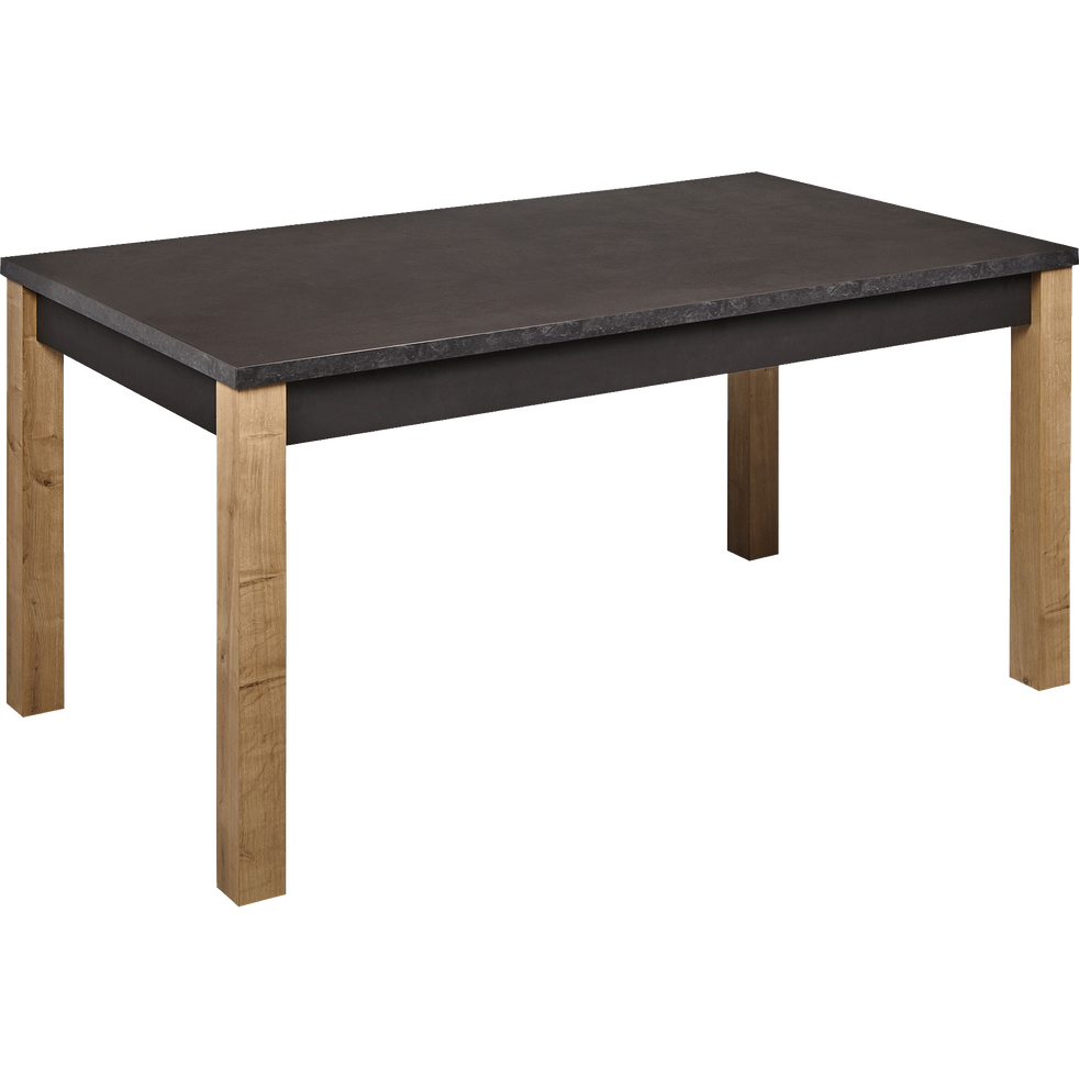 table de repas extensible effet ardoise 6 12 places madon tables extensibles alinea. Black Bedroom Furniture Sets. Home Design Ideas