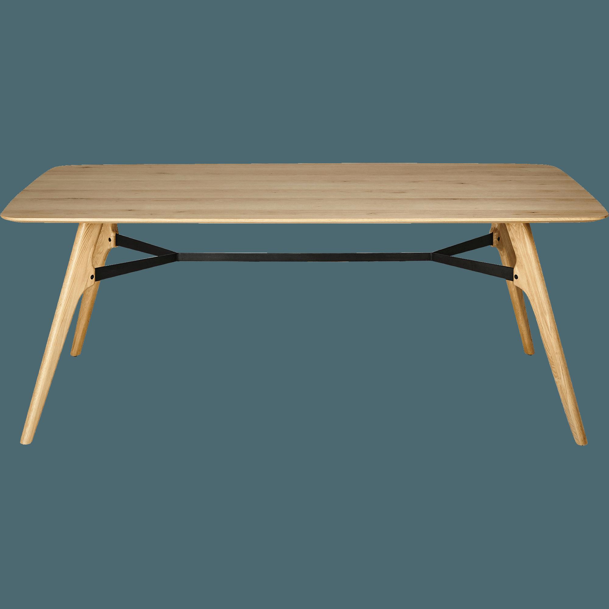 FANETTE   Table De Repas Rectangulaire Bois Et Acier   12 Places