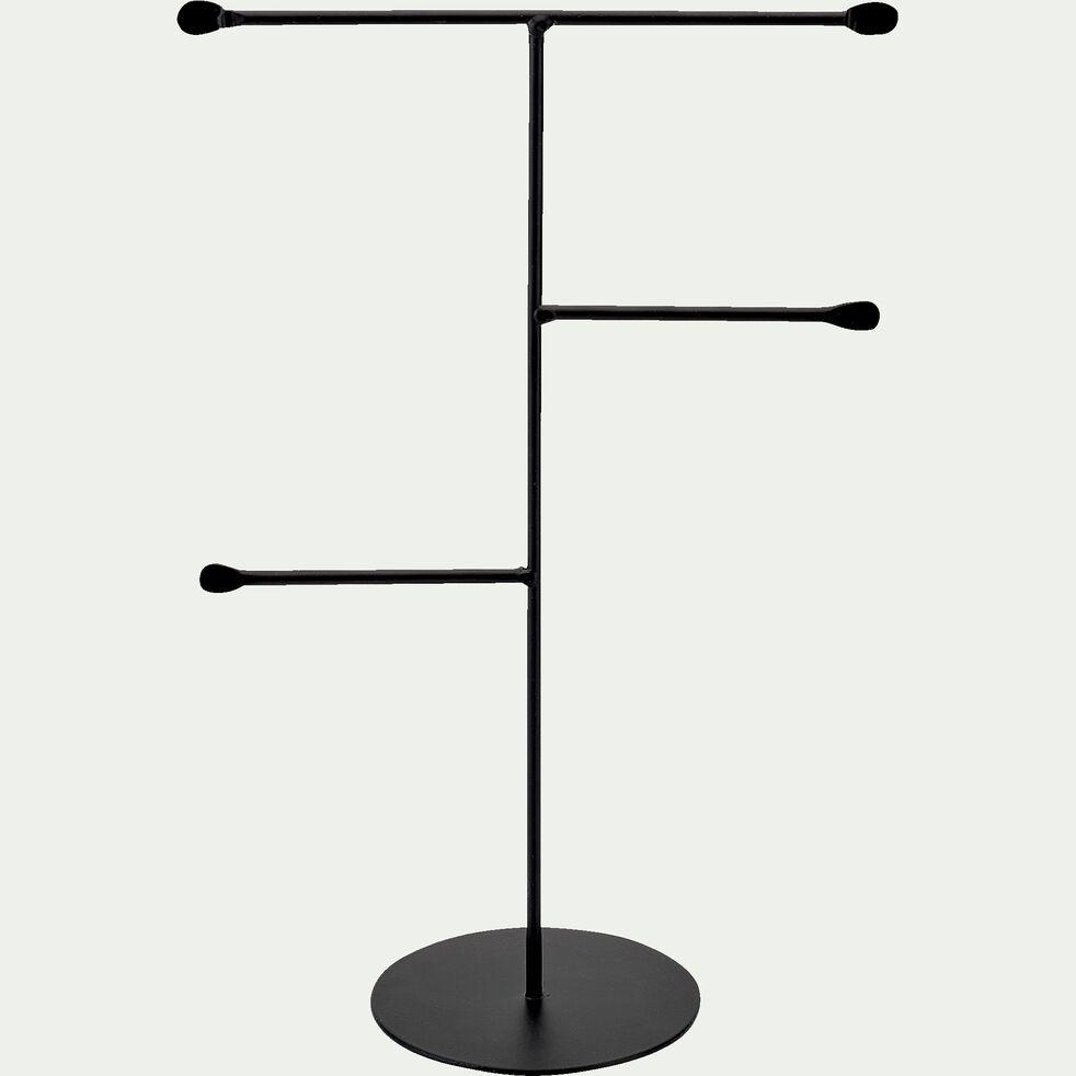 Porte-bijoux 4 branches en fer - noir H30,5cm-ARTUS