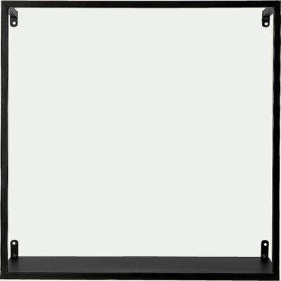 Etagère déco en métal - noir H40xL40cm-LOUIS
