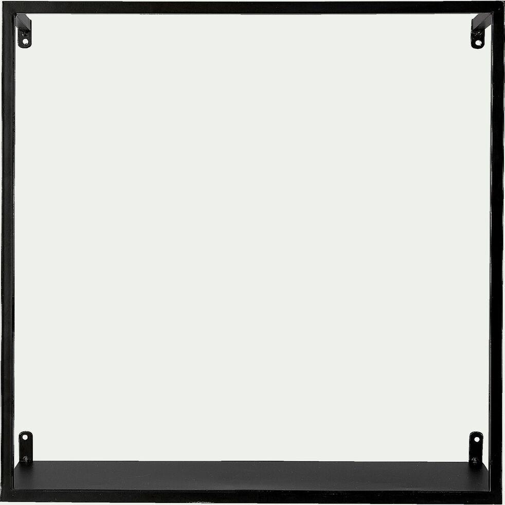 Etagère déco en métal - L40xP16xH40cm noir-LOUIS