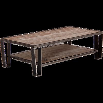Table basse en pin et acier-Ware