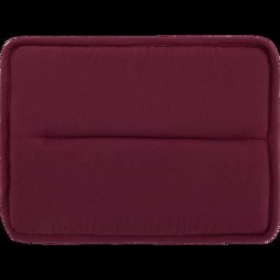 Galette de chaise rectangulaire rouge sumac-CERVIONE