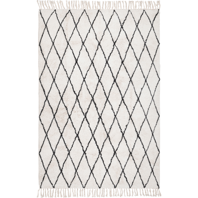 Tapis tissé de style berbère écru 160x230 cm-TRIPOLI