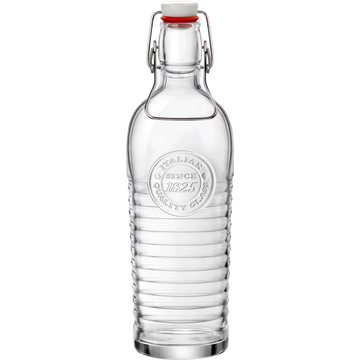 Bouteille en verre transparent 1.2L-OFFICINA