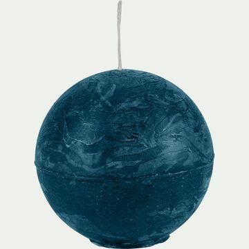 Bougie ronde bleu figuerolles D6cm-BEJAIA