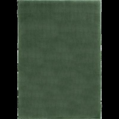 Tapis imitation fourrure vert cèdre-ROBIN