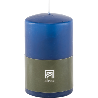 Bougie cylindrique bleu myrte-HALBA