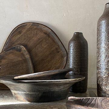 Service de vaisselle en bois de manguier - marron