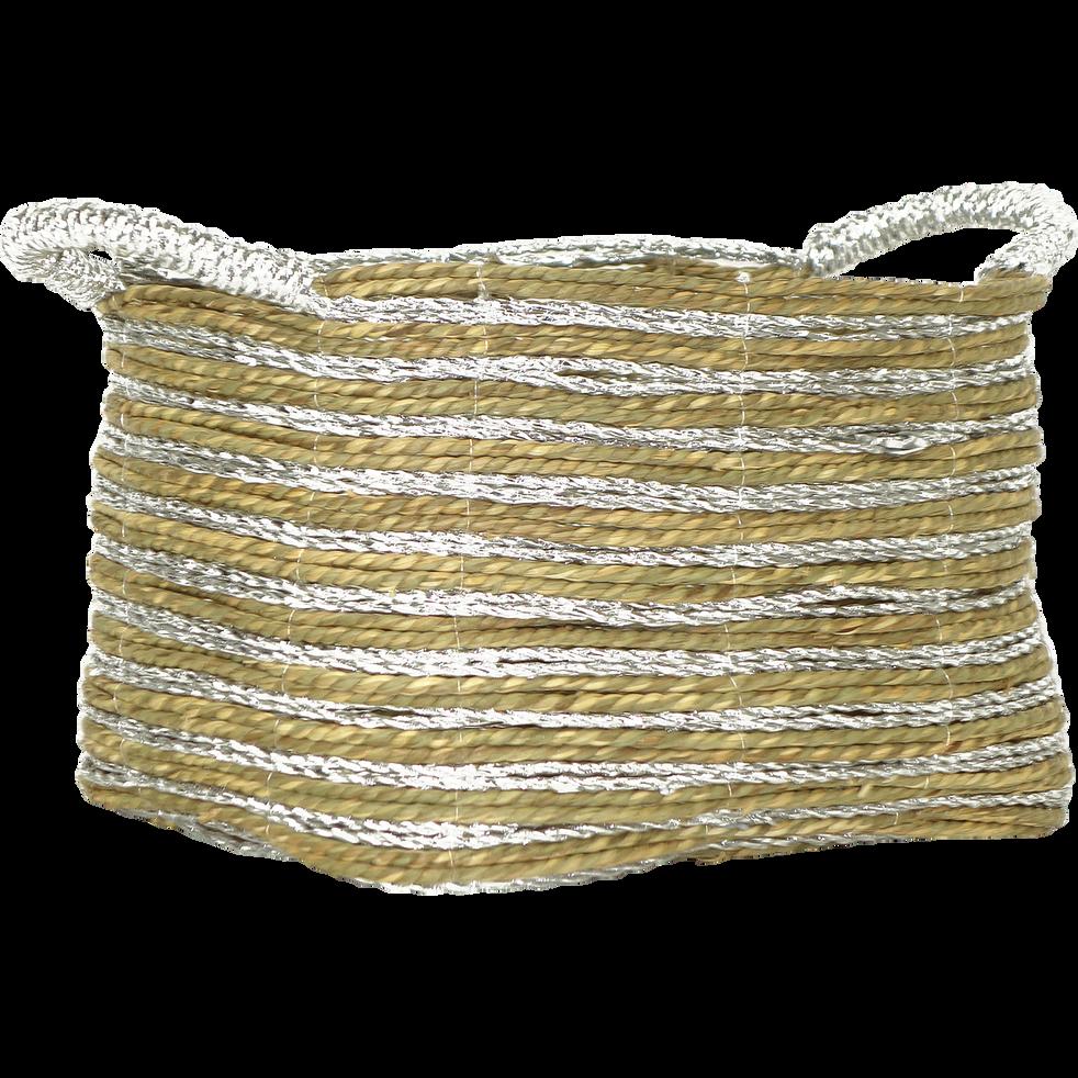 Panier de rangement en jacinthe d'eau (petit modèle)-SILVER