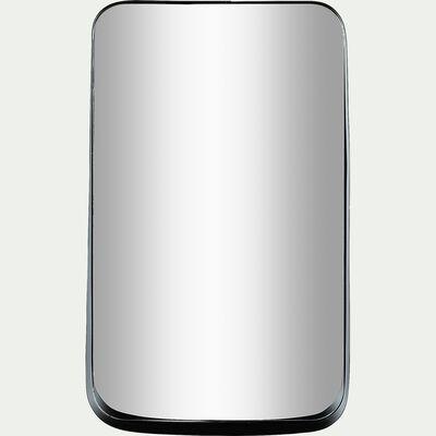 Miroir à rebord asymétrique - noir 30x50cm-AMARO