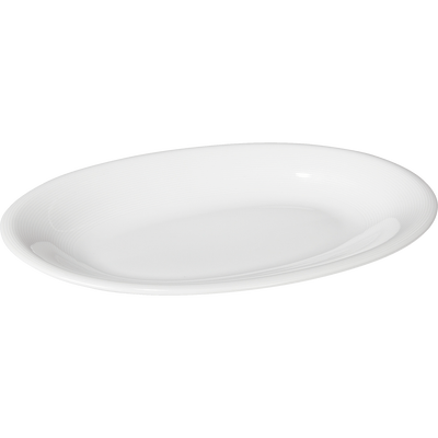 Plat de présentation ovale en porcelaine qualité hôtelière-Eto