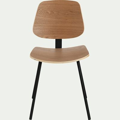 Chaise en frêne plaqué - naturel-ZABBAR