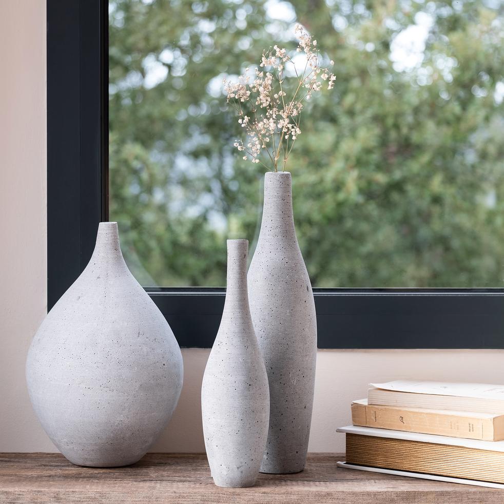 Vase effet béton H30cm-CALCIS