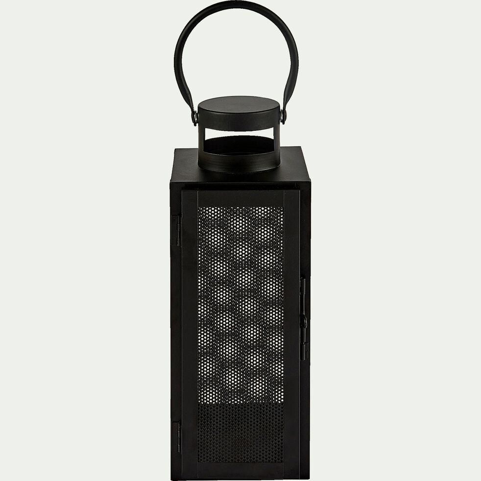 Lanterne en métal - noir - H30cm-ZADIG