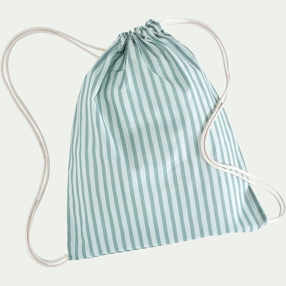 Housse de couette enfant 140x200cm et 1 taie 63x63cm - bicolore-Aquastripes