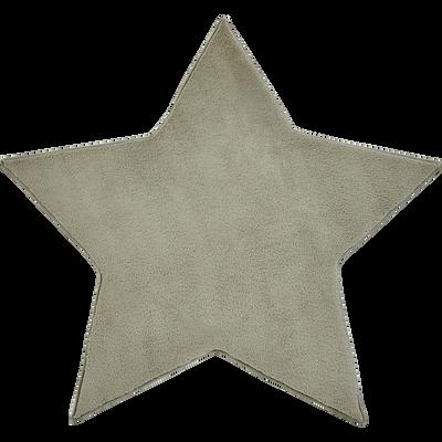 Tapis forme étoile vert-MORGIOU