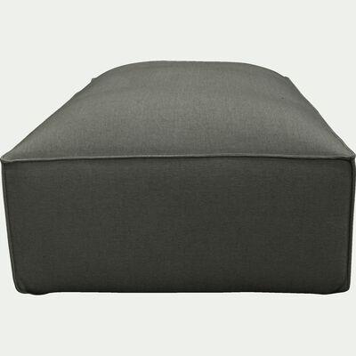 Petit pouf en tissu - L80xH40xl70cm gris restanque-REVERE