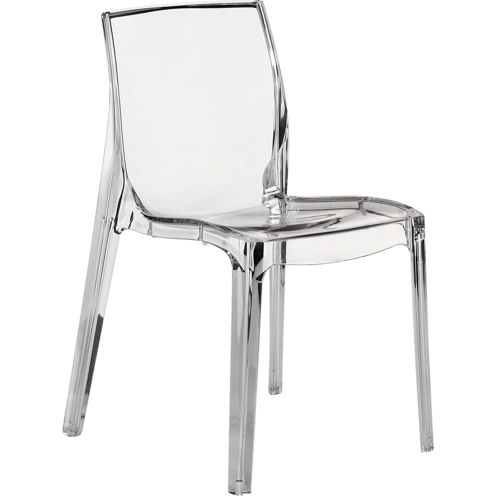 chaise design transparente becca chaises de salon alinea. Black Bedroom Furniture Sets. Home Design Ideas