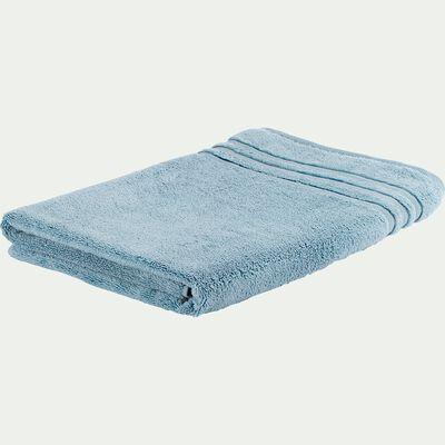 Drap de bain bouclette en coton - bleu autan 100x150cm-Noun