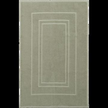 Tapis de bain en coton 50x80cm vert olivier-AZUR