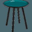 Bout de canapé en acier epoxy avec plateau bleu niolon émaillé-VITOUR