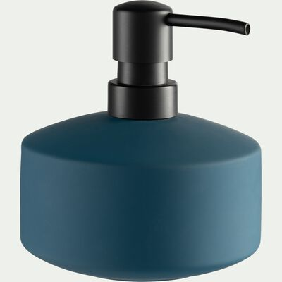 Distributeur de savon en grès - bleu figuerolles-CISTE