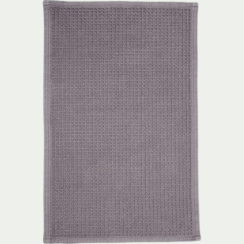 Tapis de bain tissé plat en coton - gris restanque 50x70cm-ESCAPADE