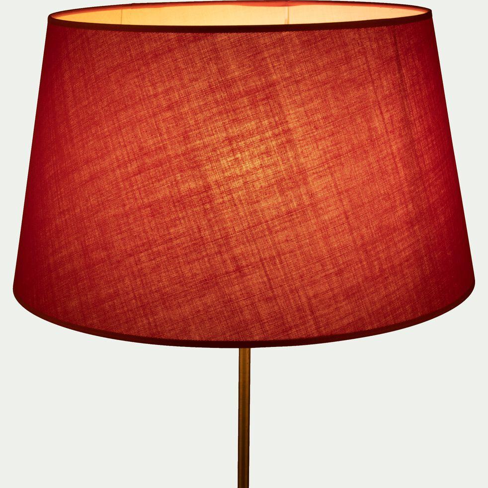 Abat-jour tambour en coton - D45cm rouge arbouse-MISTRAL