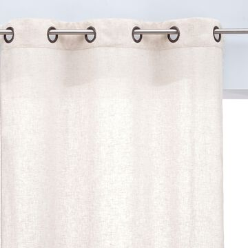 Rideau en coton et lin - blanc écru 140x250cm-QADISHA