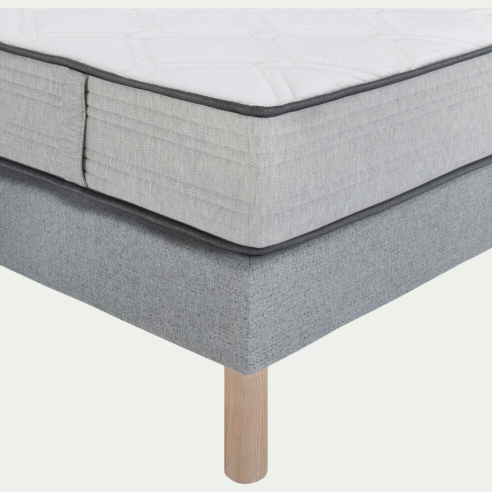 Gamme de literie avec tête de lit capitonnée - Gris clair-ROCCAS