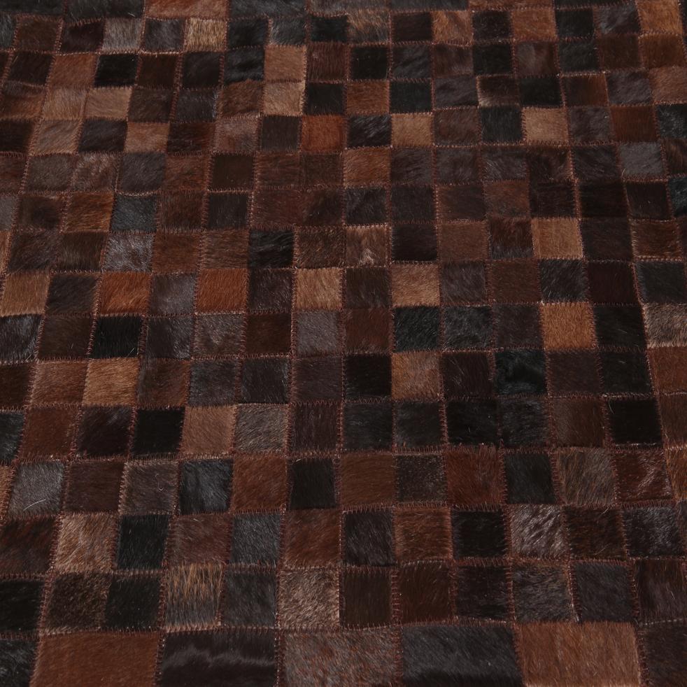 Tapis en cuir marron 200x300cm-LAYAN