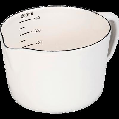 Verre doseur blanc 0,5L-AUNA