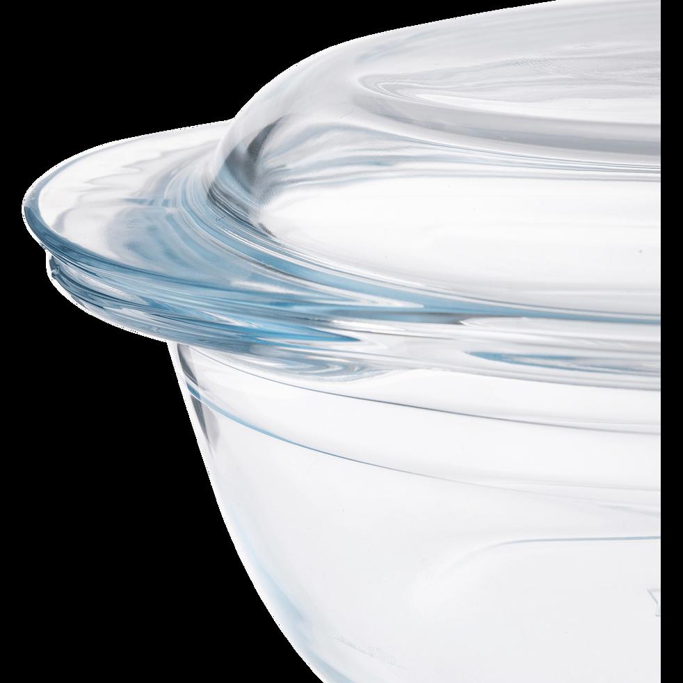 Cocotte ronde en verre borosilicate 1,6L-AZET