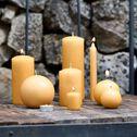 Bougie ronde beige nèfle D10cm-HALBA
