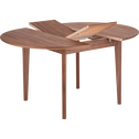 Table de repas extensible plaquée noyer - 4 à 6 places-CONSTANCE