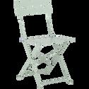 Chaise de jardin pliante vert olivier-CERVIONE