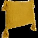 Coussin en coton tricoté jaune 35x50cm-BAHIA