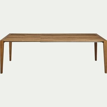 Table extensible rectangulaire effet chêne - 6 à 14 places-TIMOTHEE