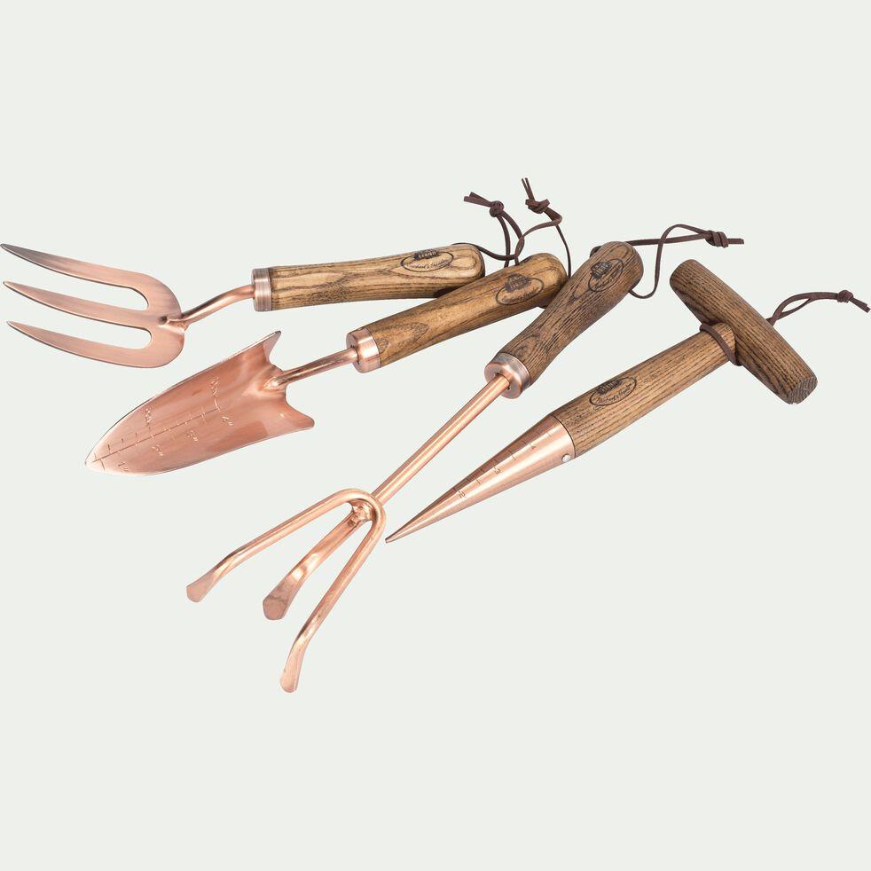 Griffe de jardinage en cuivre et bois de frêne-VIVIANE