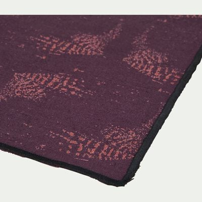Set de table en lin et coton violet 30x45cm-ATOSIA