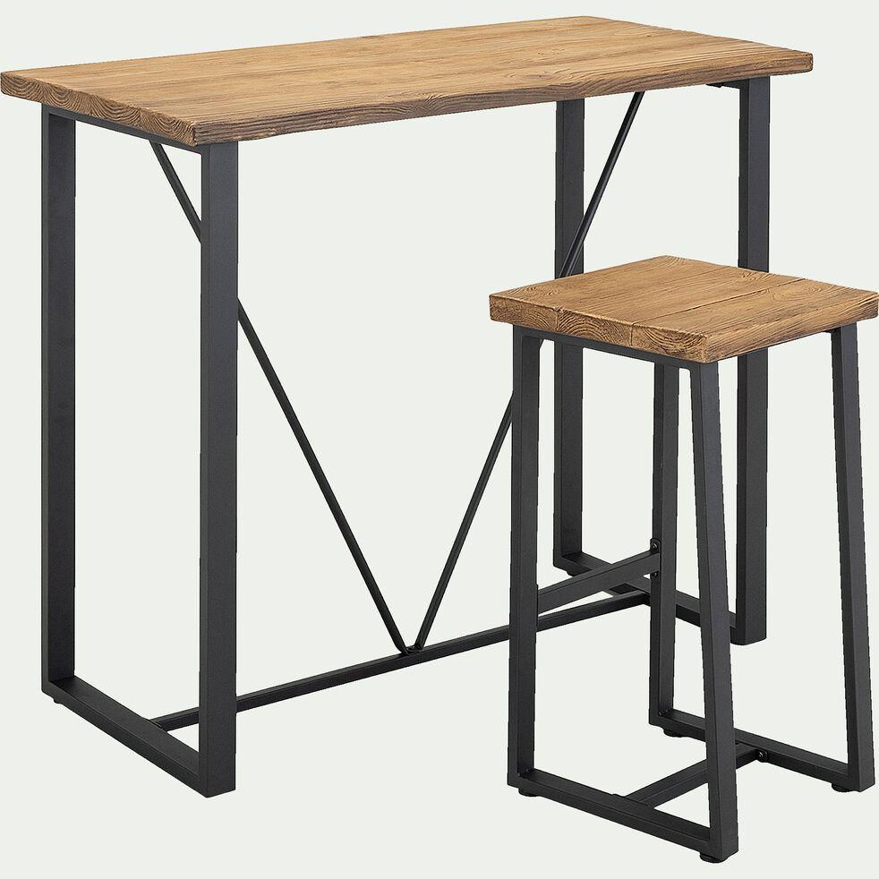 Ensemble table haute (4 places) et tabouret de bar effet-DUBLIN