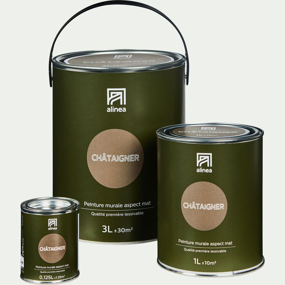 Peinture acrylique mate multi-supports - brun châtaignier 1L-PEINTURE