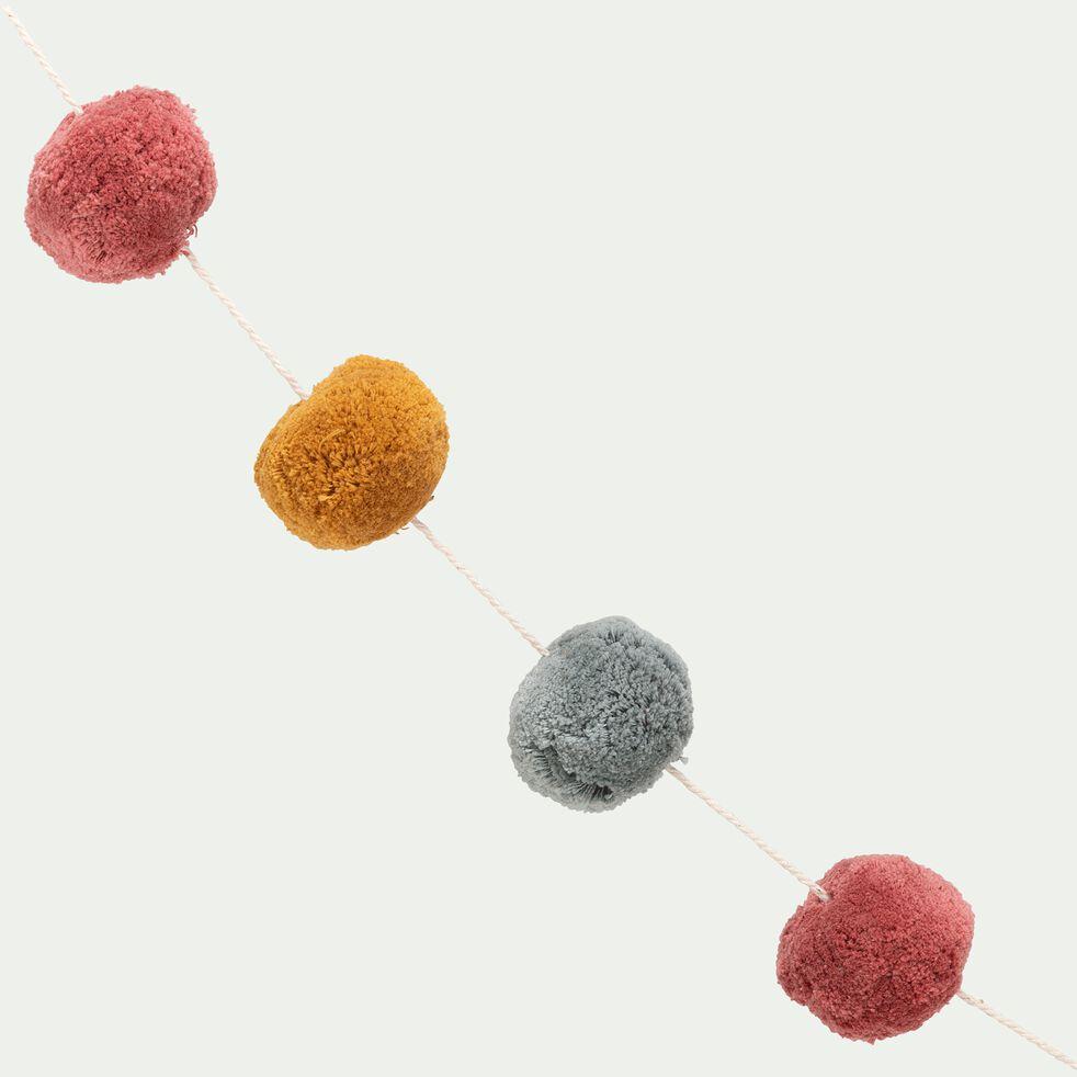 Guirlande décorative avec pompons colorés 2,2m - multicolore-Vito